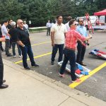 Cornhole Game at 2019 NTIC Annual Sales Meeting