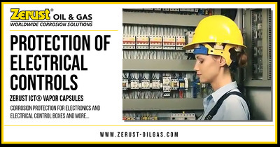 Zerust Oil & Gas Protection of Electrical Controls from Corrosion with Zerust ICT Vapor Capsules