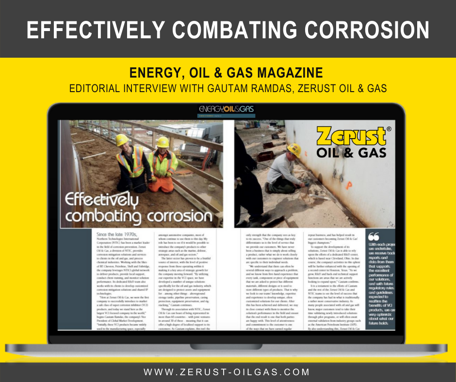 Energy Oil Gas Magazine Editorial with Zerust Oil Gas