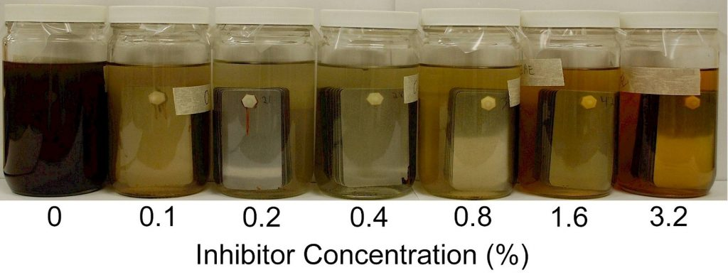 Inhibitor Concentration Immersion Test Results